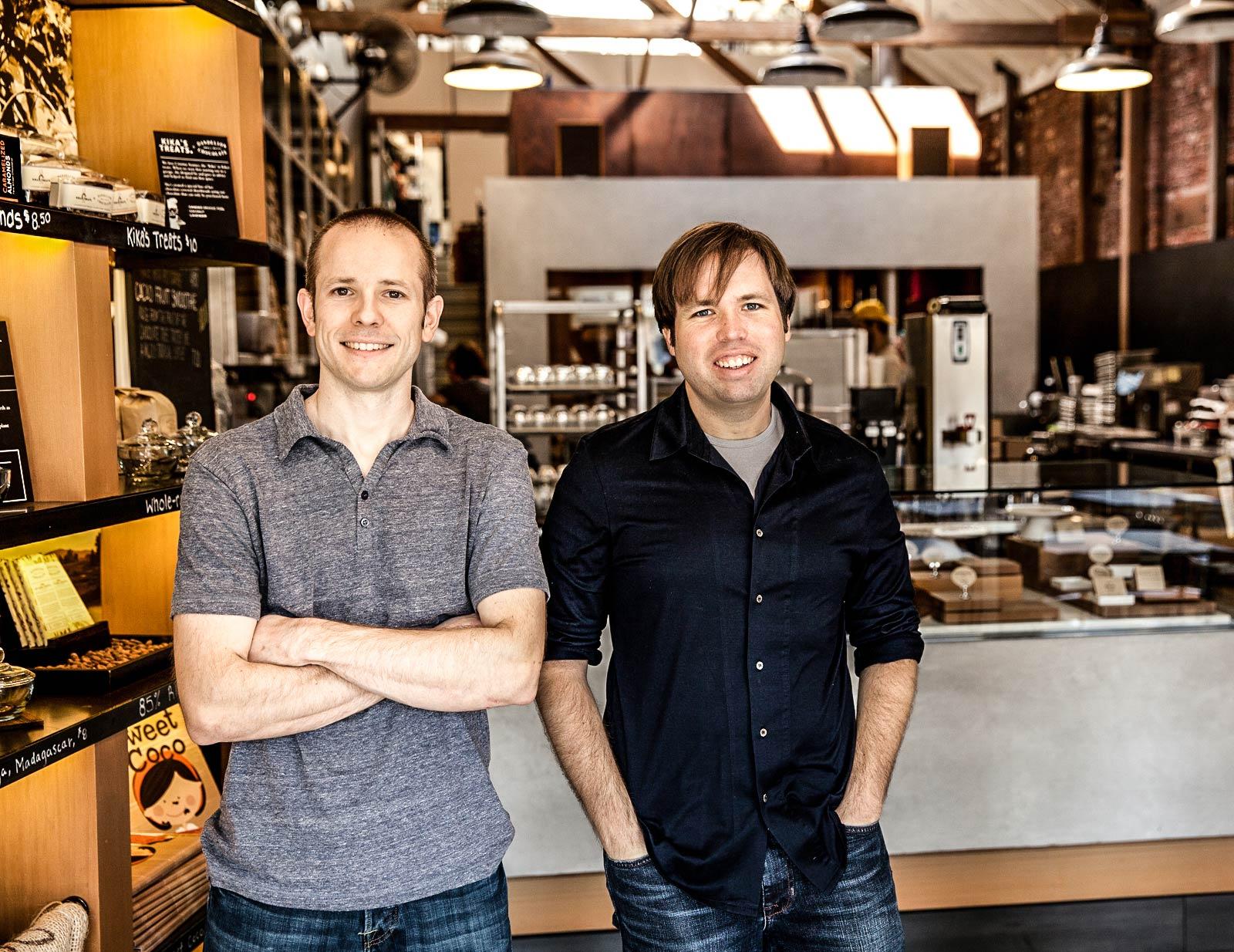 Haben die Schokoladenmanufaktur gegründet: Sweet Startup: Todd Masonis (links) und Cameron Ring