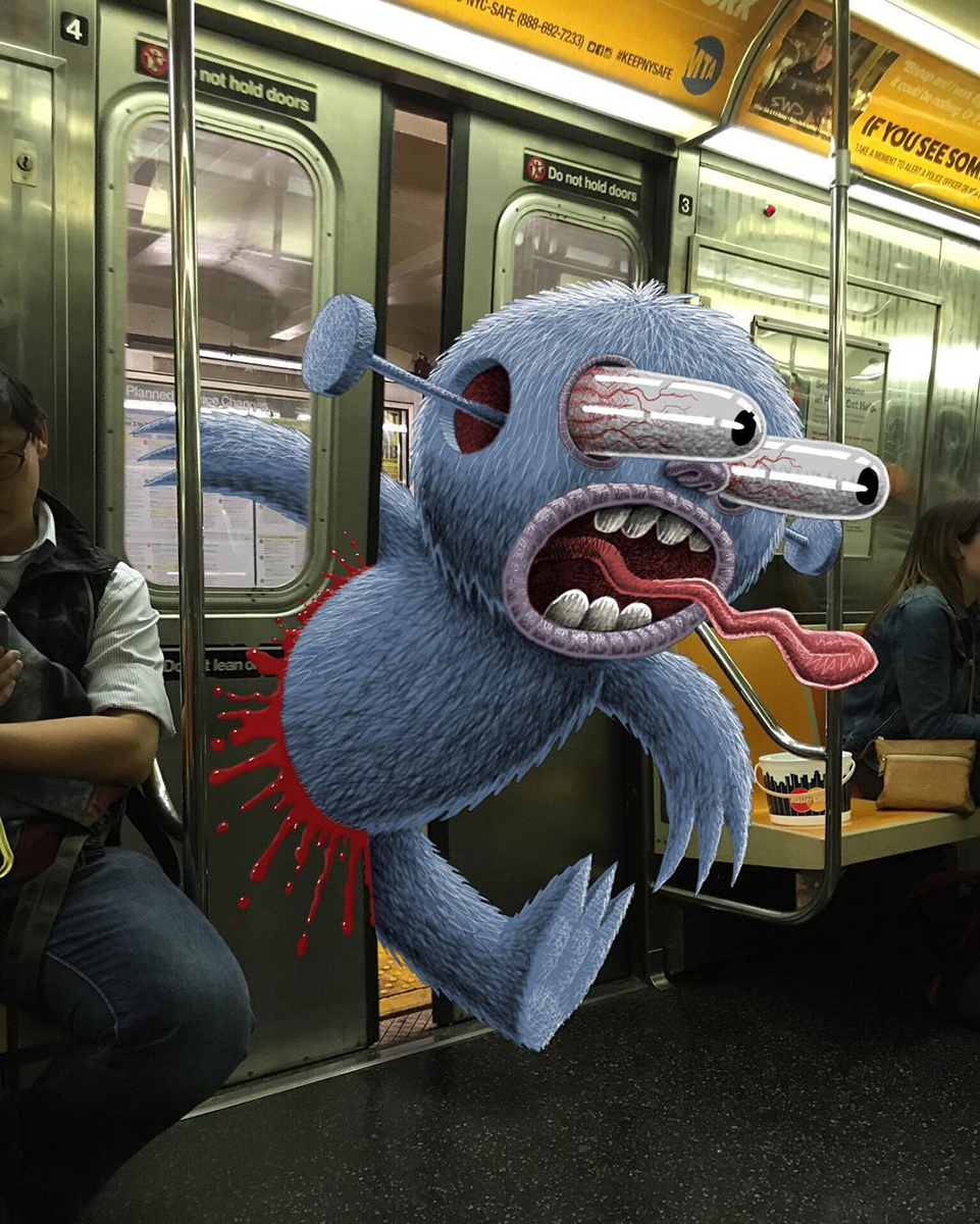 Eine Illustration von Subway Doodle