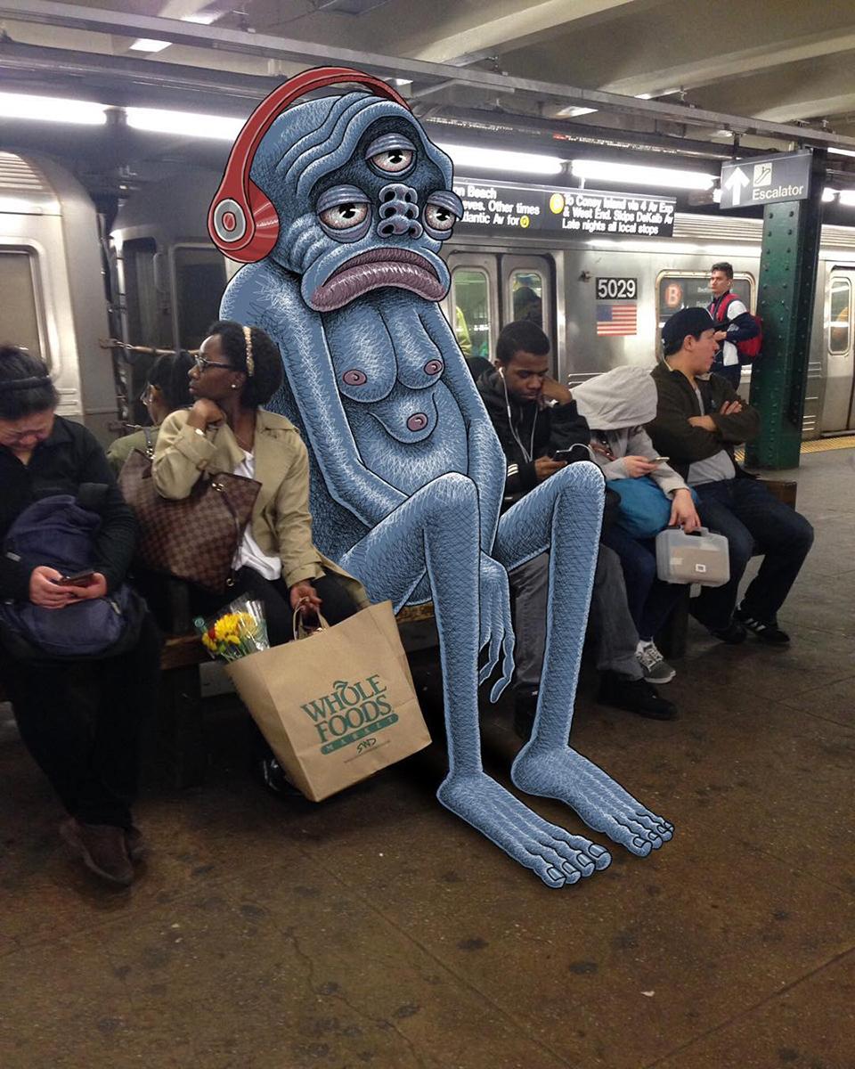 Hier eine Illustration von Subway Doodle